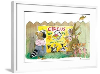 Ted, Ed, Caroll and the Trampoline - Turtle-Valeri Gorbachev-Framed Giclee Print