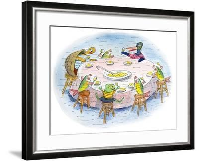 Ted, Ed, and Caroll and the Tiny Fish 5 - Turtle-Valeri Gorbachev-Framed Giclee Print