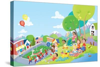 Come Celebrate - Humpty Dumpty-Robin Boyer-Stretched Canvas Print