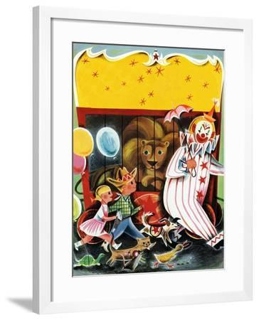 At the Circus - Child Life--Framed Giclee Print