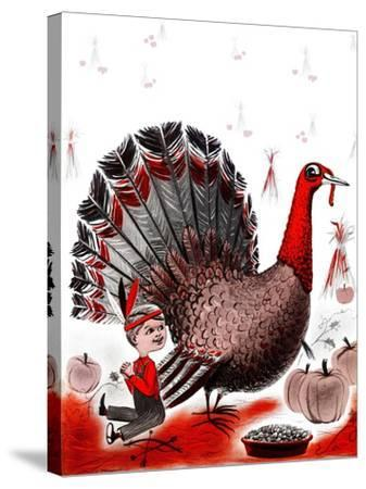 Mr. Turkey - Child Life-Elsie Fowler-Stretched Canvas Print