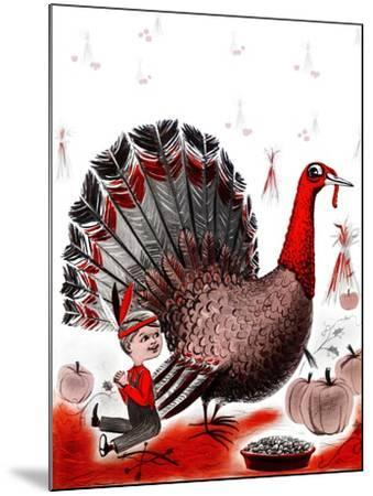 Mr. Turkey - Child Life-Elsie Fowler-Mounted Giclee Print