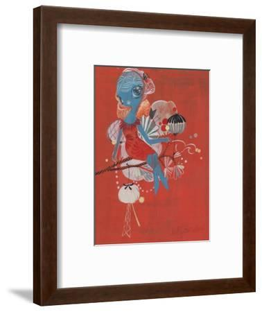 Perched-Kelly Tunstall-Framed Giclee Print