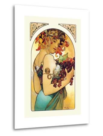 Fruit-Alphonse Mucha-Metal Print