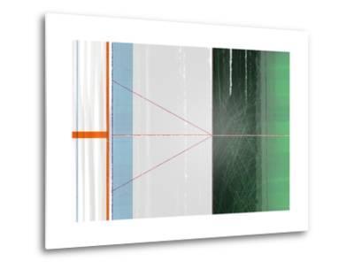 Abstract Orange and Green-NaxArt-Metal Print