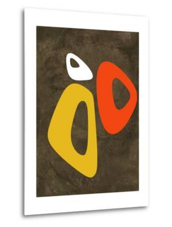 Abstract Oval Shape 3-NaxArt-Metal Print