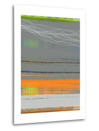 Abstract Orange Stripe1-NaxArt-Metal Print
