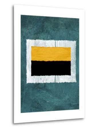 Green and Yellow Abstract Theme 5-NaxArt-Metal Print