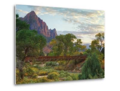 Zion Canyon Bridge-Vincent James-Metal Print