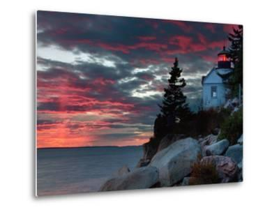 Sunset at Bass Harbor-Vincent James-Metal Print