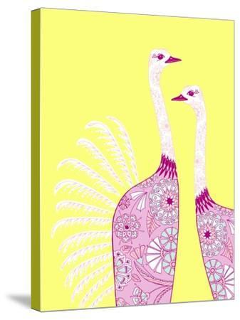 Ostrich Girls--Stretched Canvas Print