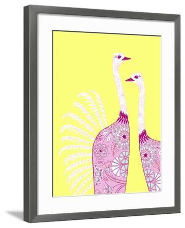 Ostrich Girls--Framed Giclee Print