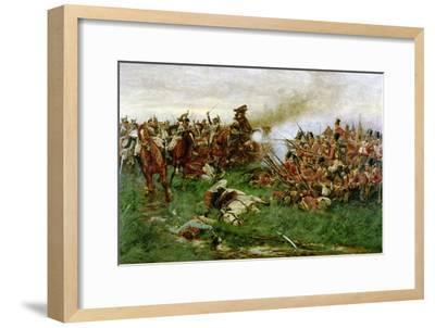 The 28th (1st Gloucestershire Regiment) at Waterloo, 1914-William Barnes Wollen-Framed Giclee Print