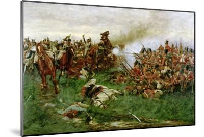 The 28th (1st Gloucestershire Regiment) at Waterloo, 1914-William Barnes Wollen-Mounted Giclee Print
