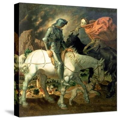 Don Quixote with Death, Based on 'The Knight, Death and the Devil' by Albrecht Durer (1471-1528),…-Theodor Baierl-Stretched Canvas Print