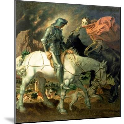 Don Quixote with Death, Based on 'The Knight, Death and the Devil' by Albrecht Durer (1471-1528),…-Theodor Baierl-Mounted Giclee Print