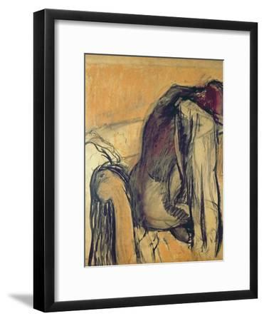 After the Bath, 1905-7-Edgar Degas-Framed Giclee Print