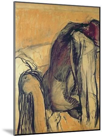 After the Bath, 1905-7-Edgar Degas-Mounted Giclee Print
