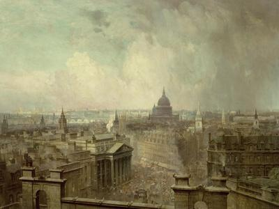 The Heart of the Empire, 1904-Niels Moller Lund-Framed Giclee Print