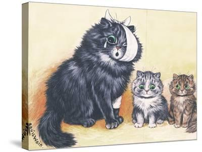 Cat-Astrophe!-Louis Wain-Stretched Canvas Print