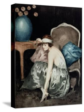 The Flapper-William Ablett-Stretched Canvas Print