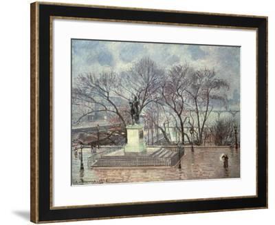 The Pont Neuf, Paris, 1902-Camille Pissarro-Framed Giclee Print