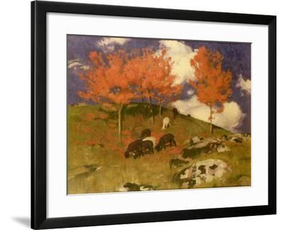 Wild Cherries in the Tyrol, c.1909-Adrian Scott Stokes-Framed Giclee Print