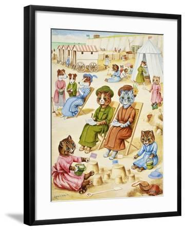 Holiday Time-Louis Wain-Framed Giclee Print