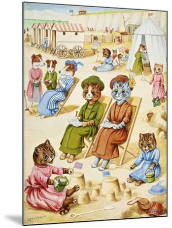 Holiday Time-Louis Wain-Mounted Giclee Print