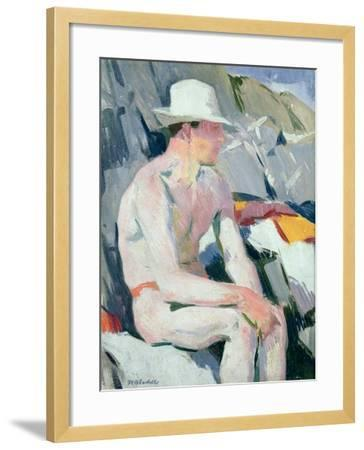 Bather in a White Hat-Francis Campbell Boileau Cadell-Framed Giclee Print