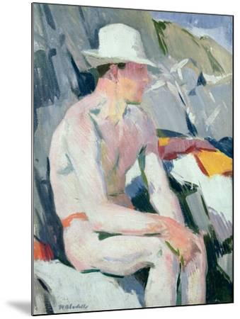 Bather in a White Hat-Francis Campbell Boileau Cadell-Mounted Giclee Print