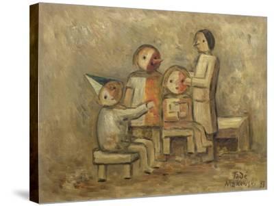 Little Family, 1929-Tadeusz Makowski-Stretched Canvas Print