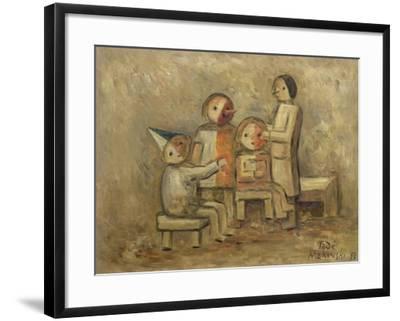 Little Family, 1929-Tadeusz Makowski-Framed Giclee Print