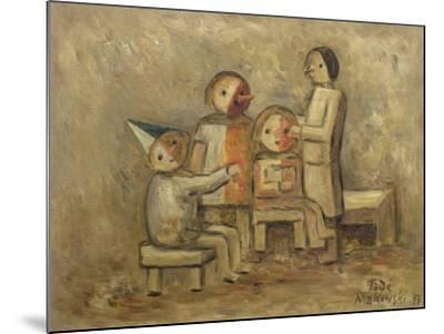 Little Family, 1929-Tadeusz Makowski-Mounted Giclee Print