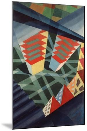 Perspectives in Flight, c.1926-Fedele Azari-Mounted Giclee Print