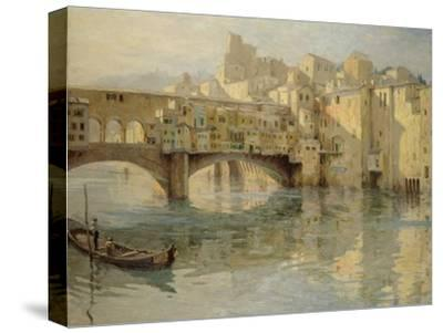 Ponte Vecchio, Florence, c.1910-Charles Oppenheimer-Stretched Canvas Print