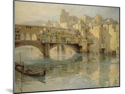 Ponte Vecchio, Florence, c.1910-Charles Oppenheimer-Mounted Giclee Print