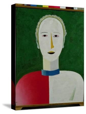 Female Portrait, 1928-32-Kasimir Malevich-Stretched Canvas Print