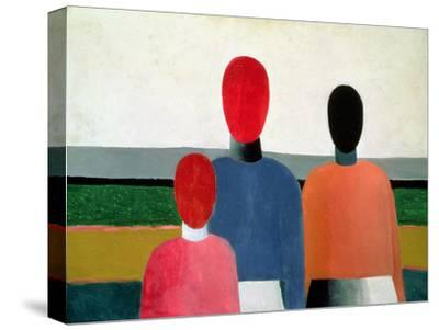 Three Female Figures, 1928-32-Kasimir Malevich-Stretched Canvas Print