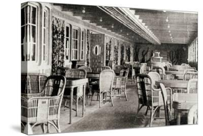 The Deck Cafe on the Titanic, 1912--Stretched Canvas Print