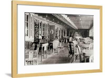 The Deck Cafe on the Titanic, 1912--Framed Photographic Print