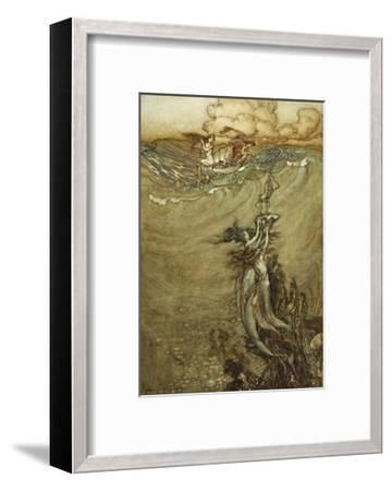 Jewels from the Deep, 1909-Arthur Rackham-Framed Premium Giclee Print