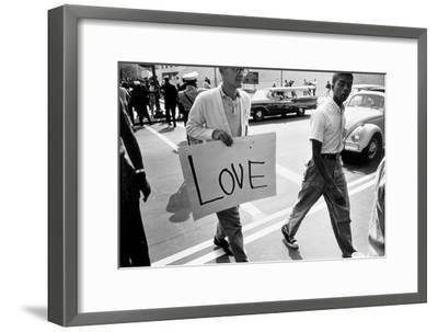 The March on Washington: Love, 28th August 1963-Nat Herz-Framed Photographic Print