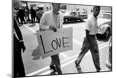The March on Washington: Love, 28th August 1963-Nat Herz-Mounted Photographic Print
