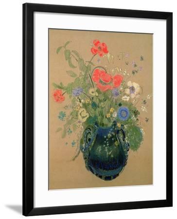 Vase of Flowers, c.1905-08-Odilon Redon-Framed Giclee Print