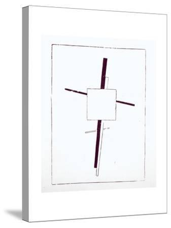 Suprematist Cross, 1920-Kasimir Malevich-Stretched Canvas Print