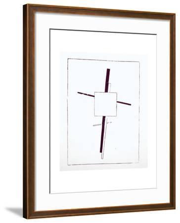 Suprematist Cross, 1920-Kasimir Malevich-Framed Giclee Print