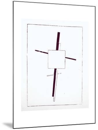 Suprematist Cross, 1920-Kasimir Malevich-Mounted Giclee Print