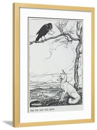 The Fox and the Crow, Illustration from 'Aesop's Fables', Published by Heinemann, 1912-Arthur Rackham-Framed Giclee Print