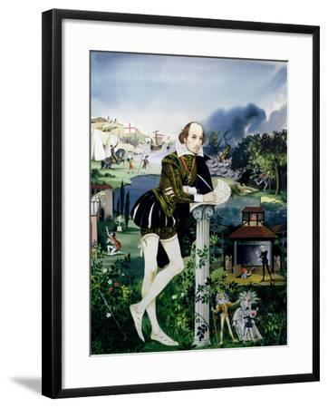Illustration for the Cover of 'Finding Out, Shakespeare's World', Published by Purnell and Sons…-Janet and Anne Johnstone-Framed Giclee Print